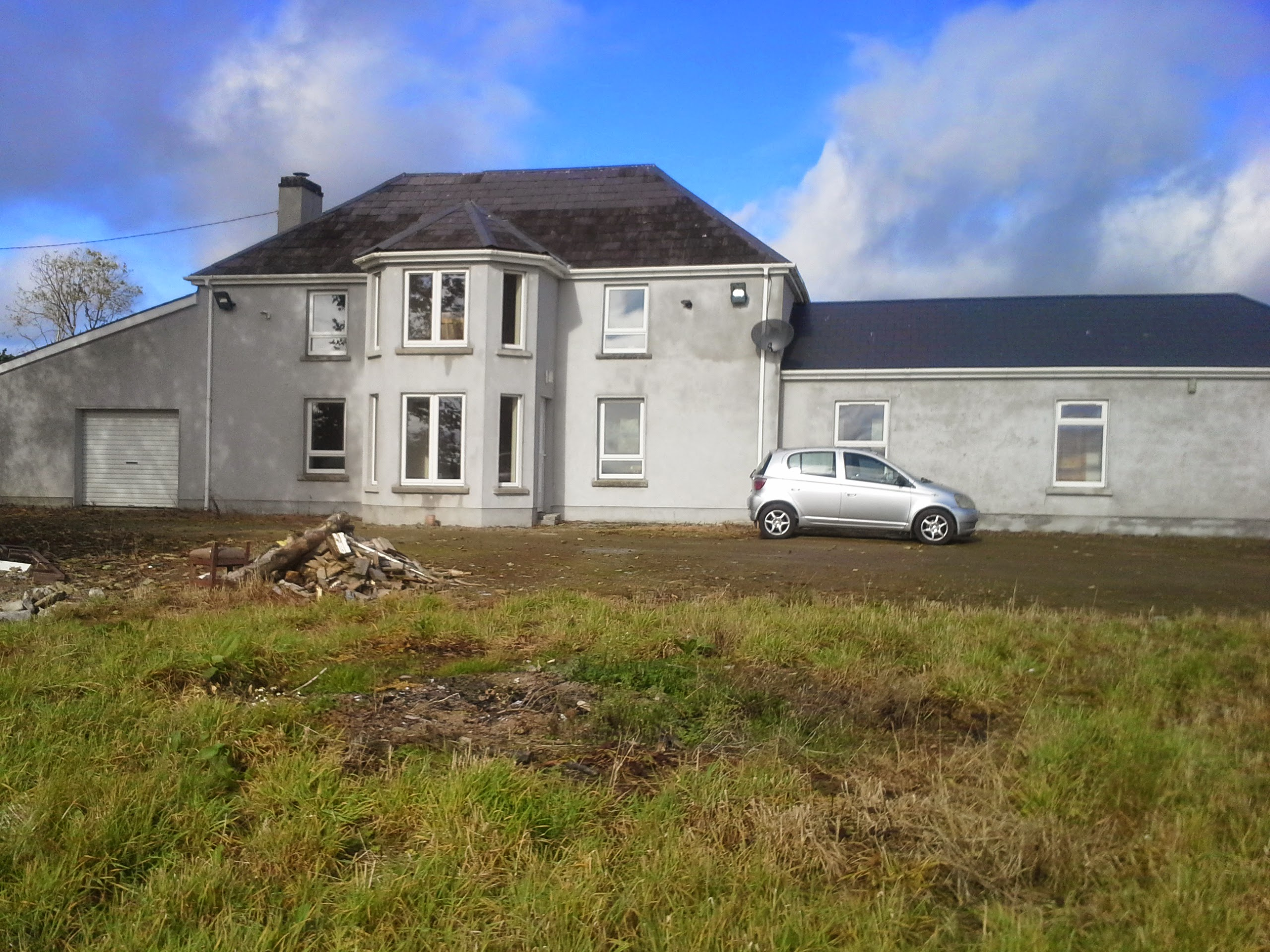 Image of a house before exterior painting